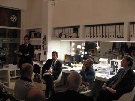 Flavio Delbono all'incontro promosso dall'Associazione 3D alla libreria Igor, 27 novembre 2008